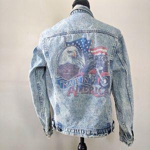 Rare VTG Harley Davidson USA Distressed Jacket